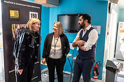 Pictured: Humza Yousaf met community officer PC Kerry Wilson and Mhairi Hume, head teacher of Newbattle High School who are regular visitors to the project<br />