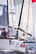 Paul Reilly, Andy Burdick, and crew onboard Red Sky, Melges 20 Class racing in Bacardi Newport Sailing Week, day 3.