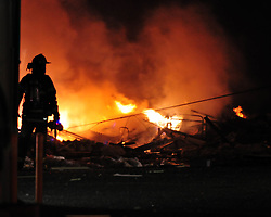 2/9/2011 Allentown, PA Emergency crews respond to a massive explosion Wednesday night in the area of 13th and Allen Street.