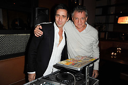 Left to right, DAN WILLIAMS and CARLOS ALMADA at a party to celebrate the 10th anniversary of the Myla lingerie brand held at Almada, 17 Berkeley Street, London on 17th November 2010.