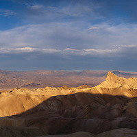 Panorama of  Zabriskie Point in Death Valley