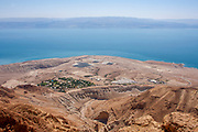 Dead Sea, Israel view east into the lake Overlooking Kibbutz Ein Gedi