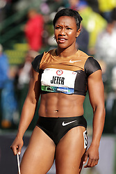 Olympic Trials Eugene 2012: womens' 100  meters, Carmelita Jeter,