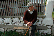old man sitting ,Dobrogea region