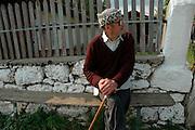 old man sitting ,Dobrogea region