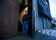 Seattle architect Tom Kundig stands at the entrance of a building he converted into living space. Client Spokesman-Review.