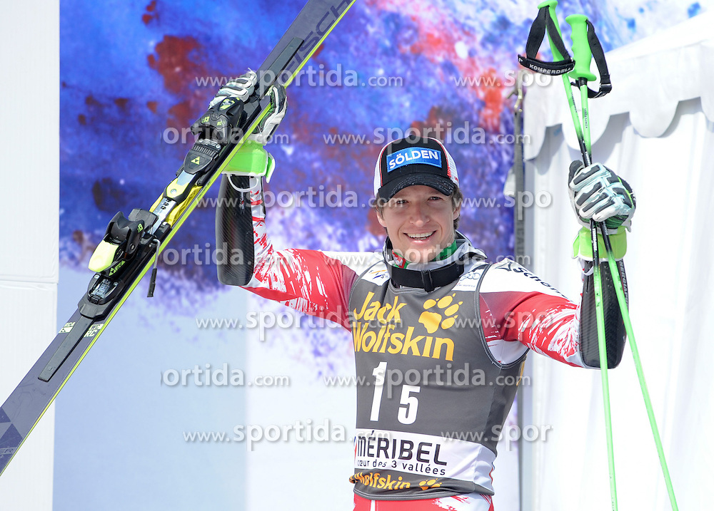 20.03.2015, Roc de Fer, Meribel, FRA, FIS Weltcup Ski Alpin, Meribel, Teambewerb, Siegerehrung, im Bild Christoph Nösig (AUT) // Christoph Noesig of Austria during winner Ceremony for the Nation Grand Prix of FIS World Cup finals at the Roc de Fer in Meribel, France on 2015/03/20. EXPA Pictures © 2015, PhotoCredit: EXPA/ Erich Spiess