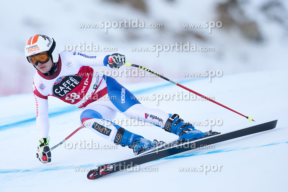 28.12.2015, Deborah Compagnoni Rennstrecke, Santa Caterina, ITA, FIS Ski Weltcup, Santa Caterina, Abfahrt, Herren, 2. Training, im Bild Urs Kryenbuehl (SUI) // Urs Kryenbuehl of Switzerland in action during the 2nd practice run of men's Downhill of the Santa Caterina FIS Ski Alpine World Cup at the Deborah Compagnoni Course in Santa Caterina, Italy on 2015/12/28. EXPA Pictures © 2015, PhotoCredit: EXPA/ Johann Groder