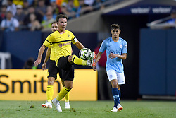 July 20, 2018 - Chicago, IL, U.S. - CHICAGO, IL - JULY 20: Borussia Dortmund midfielder Mario Gotze (10) controls the ball during an International Champions Cup match between Manchester City and Borussia Dortmund on July 20, 2018 at Soldier Field in Chicago, Illinois. (Photo by Robin Alam/Icon Sportswire) (Credit Image: © Robin Alam/Icon SMI via ZUMA Press)