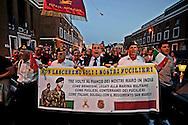 Roma 12 Maggio 2012.Fiaccolata di solidarietà in favore dei due marò Massimiliano Latorre e Salvatore Girone detenuti in India da tre mesi.Il senatore del Pdl Domenico Gramazio.