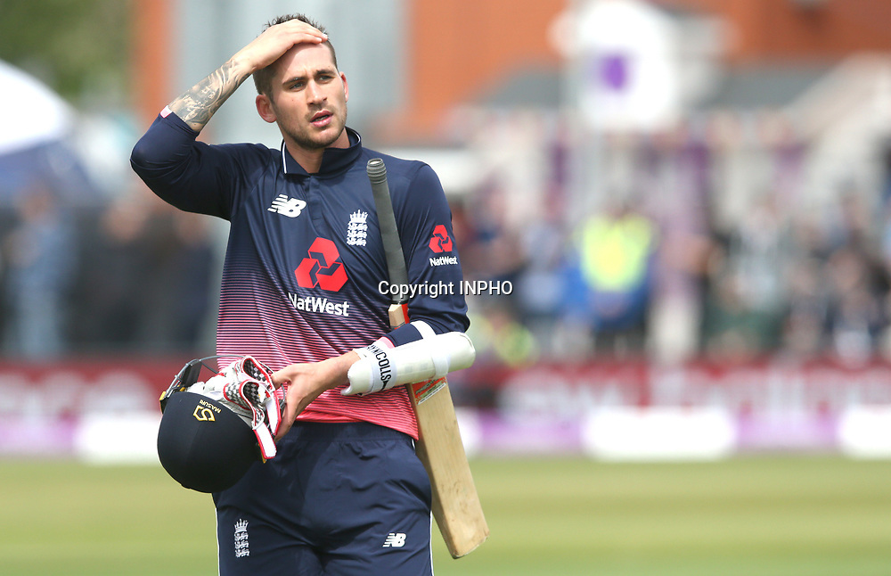 1st One Day International, Bristol Cricket Ground, England 5/5/2017<br /> England vs Ireland<br /> England's Alex Hales dejected after being caught by William Porterfield<br /> Mandatory Credit &copy;INPHO/Andrew Fosker