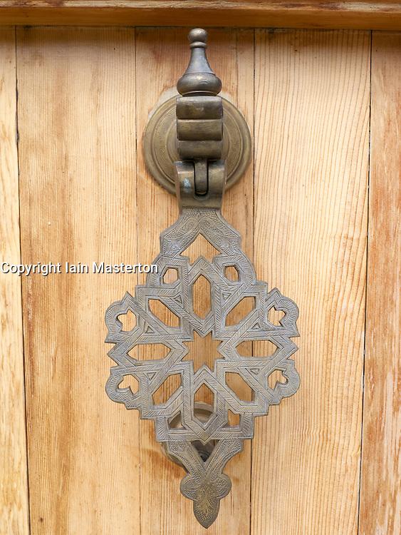 Oriental Garden door handle detail at Garten der Welt or Gardens of the World park in Marzahn in Berlin Germany