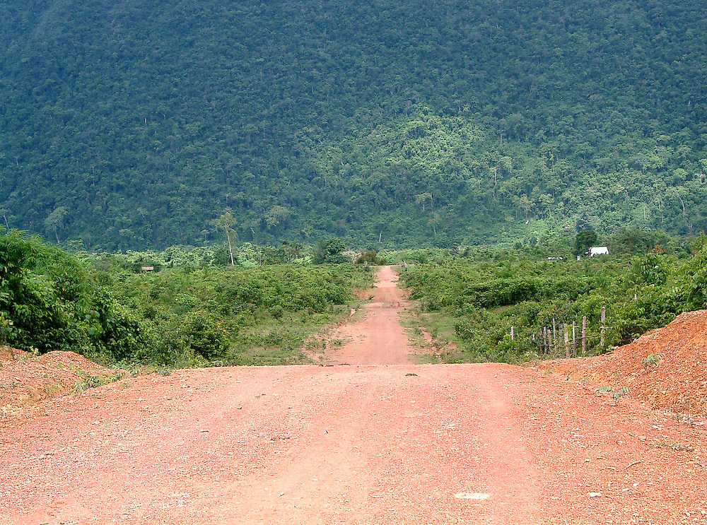 Drive to Durian farm, Laos