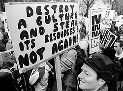 Picture by Mark Larner. Picture shows Anti-War protest, London 2003
