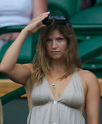 LONDON, ENGLAND - Saturday, June 26, 2010: U.S. Ski Team alpine ski racer Julia Mancuso in the Royal Box on Centre Court on day six of the Wimbledon Lawn Tennis Championships at the All England Lawn Tennis and Croquet Club. (Pic by David Rawcliffe/Propaganda)
