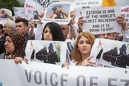 Yezidi memorial protest in Berlin