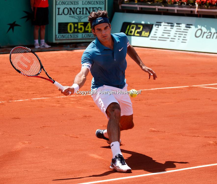 French Open 2010, Roland Garros, Paris, Frankreich,Sport, Tennis, ITF Grand Slam Tournament,..Roger Federer (SUI)..  ..Foto: Juergen Hasenkopf..