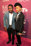 October 13, 2012- Bronx, NY: (L-R) Recording Artists Anthony Hamilton and Janelle Monae at the Black Girls Rock! Awards Red Carpet presented by BET Networks and sponsored by Chevy held at the Paradise Theater on October 13, 2012 in the Bronx, New York. BLACK GIRLS ROCK! Inc. is 501(c)3 non-profit youth empowerment and mentoring organization founded by DJ Beverly Bond, established to promote the arts for young women of color, as well as to encourage dialogue and analysis of the ways women of color are portrayed in the media. (Terrence Jennings)