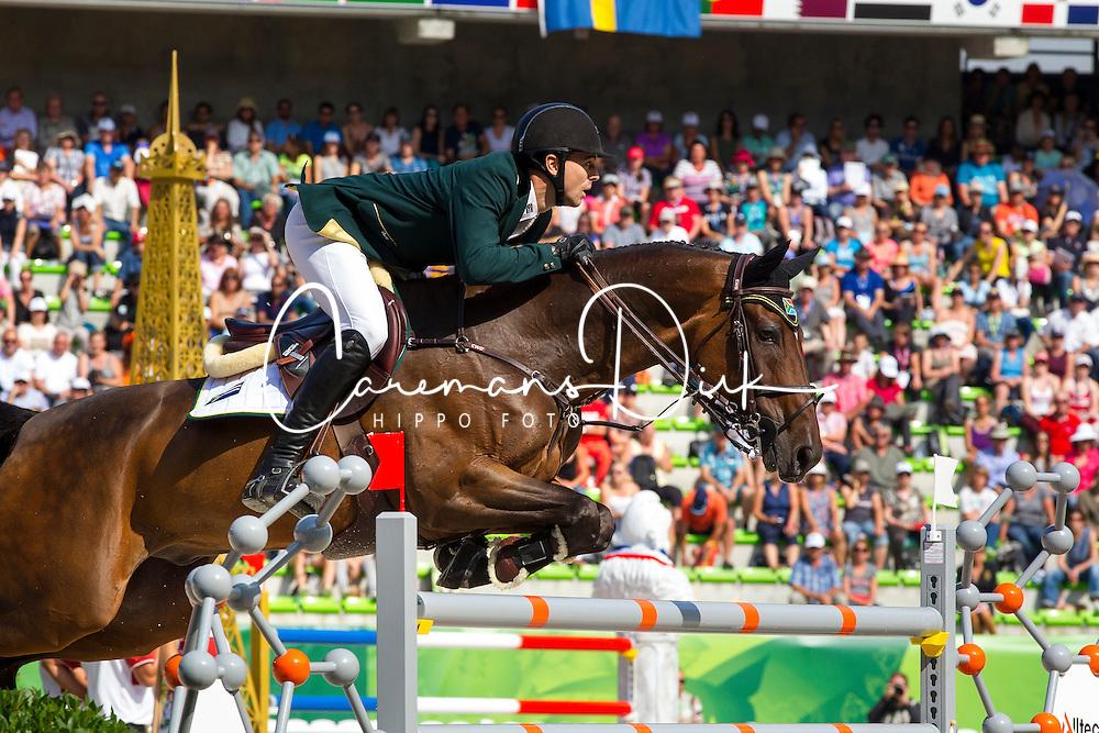 Oliver Lazarus, (RSA), Pour Le Poussage - World Champions, - Second Round Team Competition - Alltech FEI World Equestrian Games™ 2014 - Normandy, France.<br /> © Hippo Foto Team - Leanjo De Koster<br /> 25/06/14