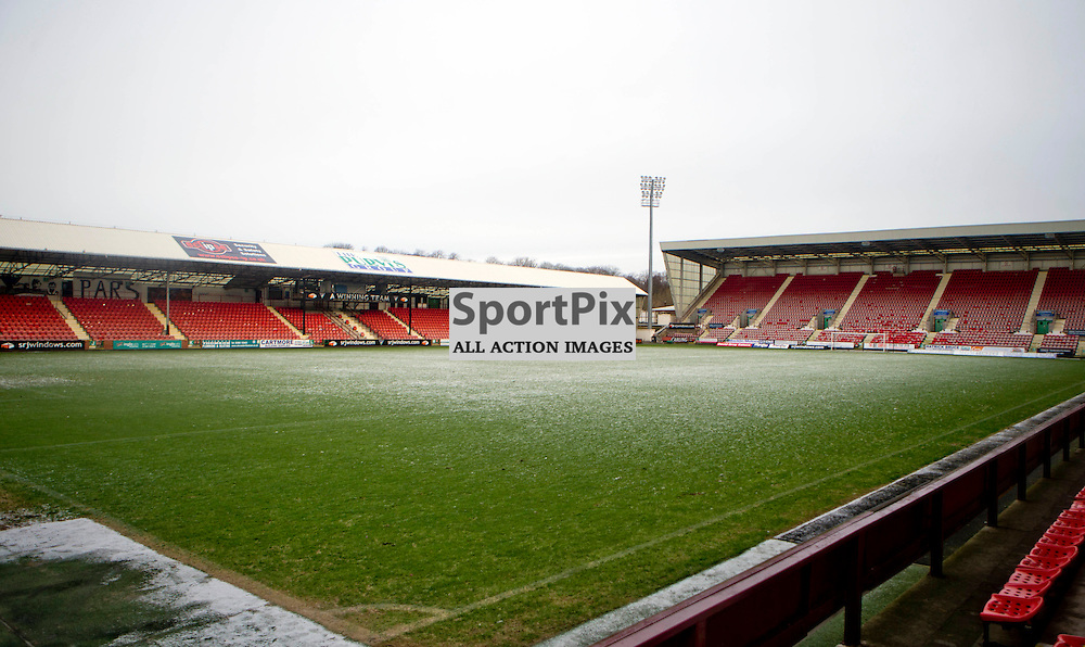 East End Park Match Postponed 16 January 2016<br /> Dunfermline Athletics match against Albion Rovers is postponed due to a frozen pitch<br /> (c) CRAIG BROWN | SportPix.org.uk