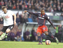 Reading Yakubu Fires in Reading Second Goal and their Winner at Derby,  Derby County v Reading, FA Cup 5th Round, The Ipro Stadium, Saturday 14th Febuary 2015