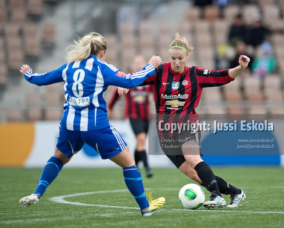Heidi Kivelä. PK-35 - HJK. Naisten Suomen Cup. Finaali. 29.9.2013. Photo: Jussi Eskola