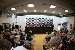 Pressconference with the Dutch Team, Jeroen Dubbeldam, Gerco Schroder, Maikel Van der Vleuten, Jur Vrieling, Rob Ehrens (chef d'equipe) at the Furusiyya FEI Nations Cup™ Final - Barcelona 2014<br /> © Dirk Caremans<br /> 11/10/14