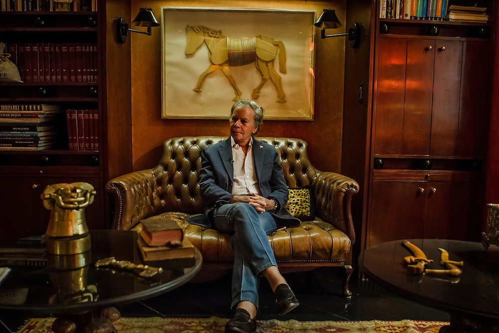 Opposition leader, Diego Arria, poses for a portait in his home in Caracas, Venezuela on February 20, 2014. CREDIT:  Meridith Kohut