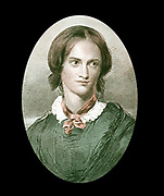 Charlotte Bronte (1816-1855) English novelist. After portrait by George Richmond. Author of 'Jane Eyre' (1847), 'Shirley' (1849), 'Vilette' (1852).