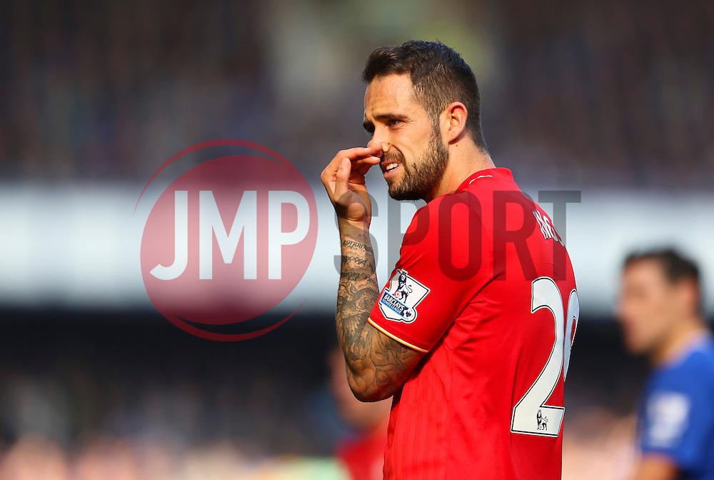 Danny Ings of Liverpool looks dejected  - Mandatory byline: Matt McNulty/JMP - 07966 386802 - 04/10/2015 - FOOTBALL - Goodison Park - Liverpool, England - Everton  v Liverpool - Barclays Premier League