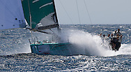 Quantum sailing at speed during Race 4 of the AUDI Medcup in Marseilles