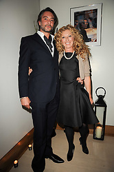 KELLY HOPPEN and  at the launch party for 'Promise', a new capsule ring collection created by Cheryl Cole and de Grisogono held at Nobu, Park Lane, London on 29th September 2010.