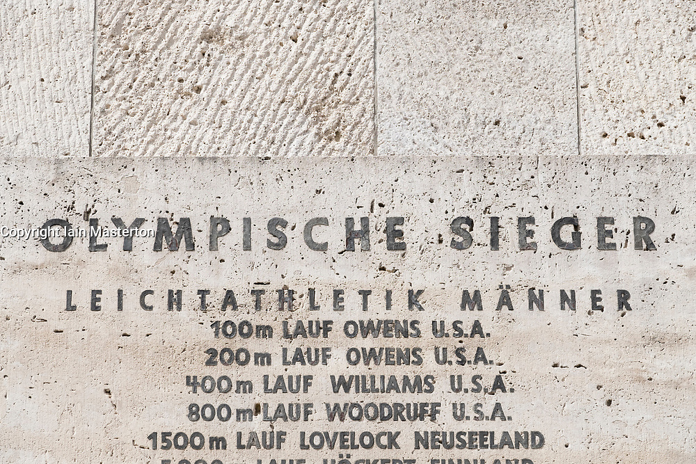 List of winners of 1936 Berlin Olympic Games with Jesse Owens name prominent Olympiastadium ( Olympic Stadium) in Berlin, Germany