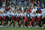 Ole Miss cheerleaders at Ole Miss vs. Tennessee at Vaught-Hemingway Stadium in Oxford, Miss. on Saturday, October 18, 2014.