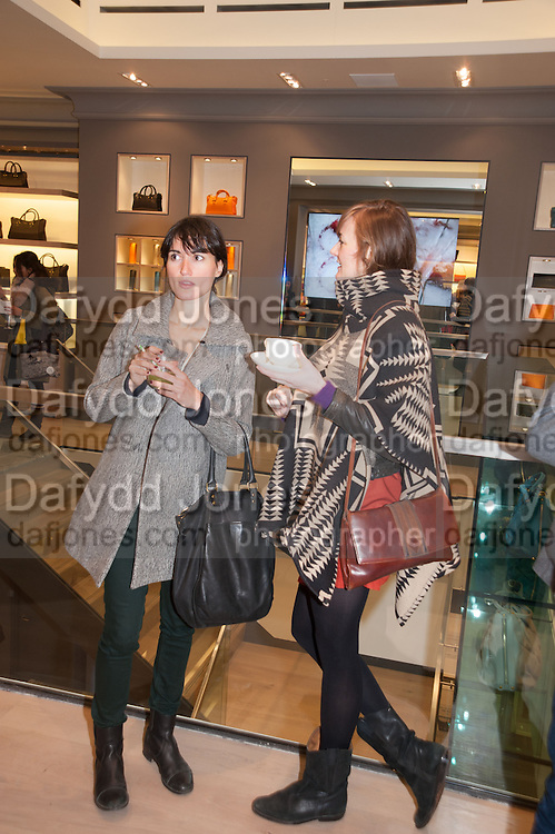 SUSANNA CAPPELLARO; NADIA MARQUARD OTZEN, Smythson Sloane St. Store opening. London. 6 February 2012.
