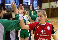 Maja Zrnec after the handball game between RK Krim Mercator and ZRK Krka of Liga z'dezele of Slovenian National Championship 2010/2011, on May 14, 2011 in Arena Krim Galjevica, Ljubljana, Slovenia. Krim became Slovenian National Champion 2010//2011. (Photo By Vid Ponikvar / Sportida.com)