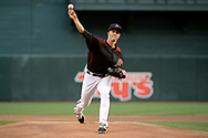 PHOENIX, AZ - APRIL 08:  Zack Greinke #21 of the Arizona Diamondbacks throws a warm up pitch prior to the first inning against the Cleveland Indians at Chase Field on April 8, 2017 in Phoenix, Arizona. The Arizona Diamondbacks won 11-2.  (Photo by Jennifer Stewart/Getty Images)