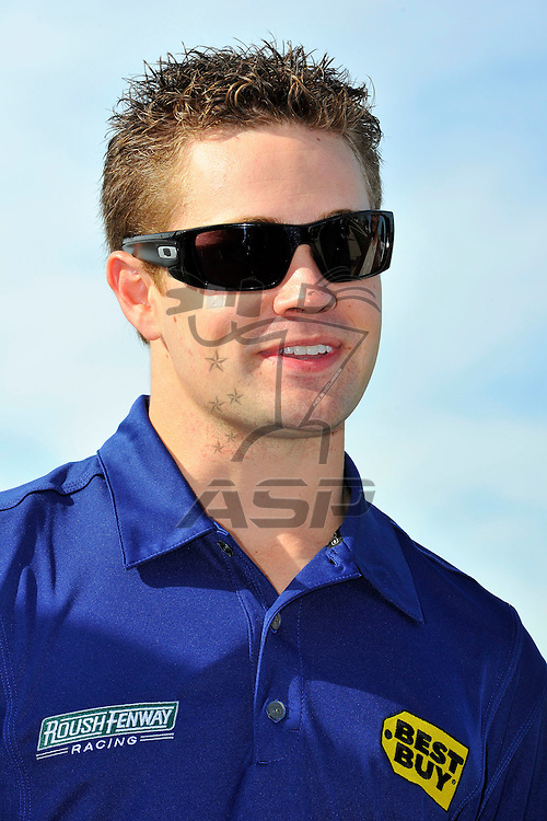 Joliet, IL - SEP 14, 2012:  Ricky Stenhouse, Jr. is announced as driver of the Roush Fenway Best Buy Ford for 2013 before the practice for the Geico 400 at the Chicagoland Speedway in Joliet, IL.