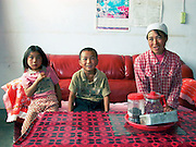 Family in Guancai Village. Ningxia Province, China.
