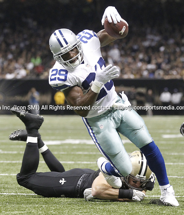 Nov. 10, 2013 - New Orleans, LA, USA - DeMarco Murray of the Dallas Cowboys runs the ball for a second-quarter touchdown against the New Orleans Saints at the Mercedes-Benz Superdome in New Orleans on Sunday, Nov. 10, 2013