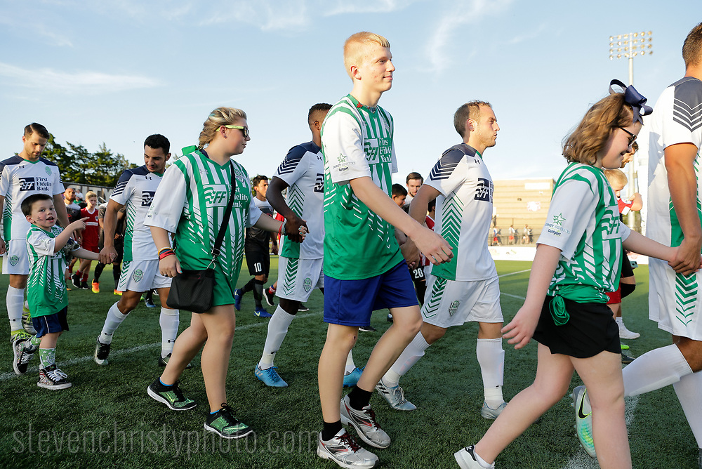 August 19, 2017: OKC Energy FC plays San Antonio FC in a USL game at Taft Stadium in Oklahoma City, Oklahoma.