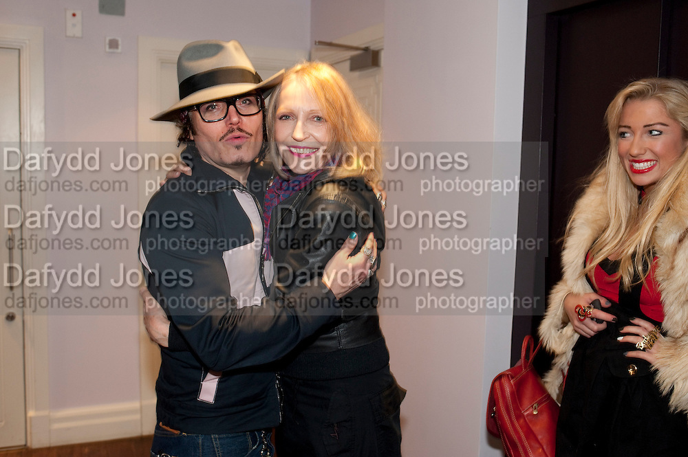 ADAM ANT; JENNY RUNACRE; TWINKLE , Showing of Jubilee. Society film club, Sanctum Soho Hotel. celebrating Robert PerenoÕs birthday and the official launch of The Society Film Club on the Rooftop bar of the Sanctum. -DO NOT ARCHIVE-© Copyright Photograph by Dafydd Jones. 248 Clapham Rd. London SW9 0PZ. Tel 0207 820 0771. www.dafjones.com.<br /> ADAM ANT; JENNY RUNACRE; TWINKLE , Showing of Jubilee. Society film club, Sanctum Soho Hotel. celebrating Robert Pereno's birthday and the official launch of The Society Film Club on the Rooftop bar of the Sanctum. -DO NOT ARCHIVE-© Copyright Photograph by Dafydd Jones. 248 Clapham Rd. London SW9 0PZ. Tel 0207 820 0771. www.dafjones.com.