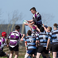 Kilrush Gerard Powell takes the ball in a lineout