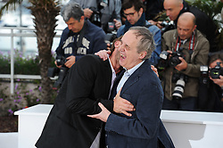 Italian director Dario Argento and German actor Thomas Kretschmann (L) pose during the photocall of 'Dario Argento Dracula' presented in the 'Seance de Minuit' selection at the 65th Cannes film festival on May 19, 2012 in Cannes.Photo Ki Price/i-Images