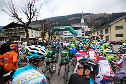17.04.2013, Hauptplatz, Sillian, AUT, Giro del Trentino, Etappe 2, Sillian nach Bozen, im Bild Starterfeld vor dem Start // during the 2nd stage, Sillian to Bolzano of the Giro del Trentino at the Hauptplatz, Lienz, Austria on 2013/04/17. EXPA Pictures © 2013, PhotoCredit: EXPA/ Johann Groder