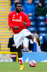 Stoke City's Mame Biram Diouf warms up- Photo mandatory by-line: Matt McNulty/JMP - Mobile: 07966 386802 - 14/02/2015 - SPORT - Football - Blackburn - Ewood Park - Blackburn Rovers v Stoke City - FA Cup - Fifth Round