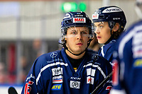 2020-01-22   Kallinge, Sweden: Krif hockey (16) Victor Laz  looks thoughtful in the booth during the game between Krif hockey and Halmstad Hammers at Soft Center Arena (Photo by: Jonathan Persson   Swe Press Photo)<br /> <br /> Keywords: kallinge, Ishockey, Icehockey, hockeyettan, allettan södra, soft center arena, krif hockey, halmstad hammers (Match code: krhh200122)