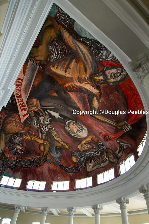 """José Clemente Orozco, Mural of Hildago signing degree to end slavery, """"The People and its Leaders"""", Palacio de Gobierno, State Congress chamber, Guadalajara, Jalisco, Mexico"""