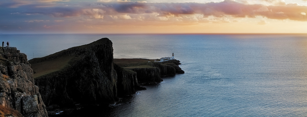 Sunset at Neist Point on the Isle of Skye, Scotland