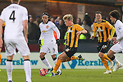 Cambridge United Cameron McGeehan shoots during the The FA Cup match between Cambridge United and Manchester United at the R Costings Abbey Stadium, Cambridge, England on 23 January 2015. Photo by Phil Duncan.